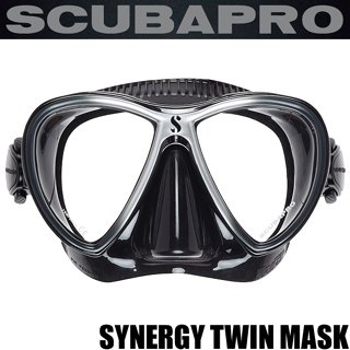 SCUBAPRO スキューバプロ SYNERGY TWIN MASK シナジーツインマスク (ブラック/シルバー)