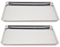 Vollrath (5303) Wear-Ever Half-Size Sheet Pans, Set of 2 (18-Inch x 13-Inch x 1-Inch, Aluminum)