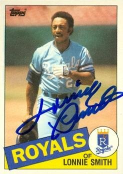 Lonnie Smith autographed Baseball Card (Kansas City Royals) 1985 Topps Traded #109T