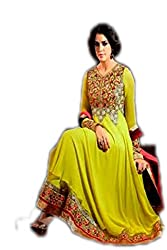 Fusion Green Coloured Anarkali Suit