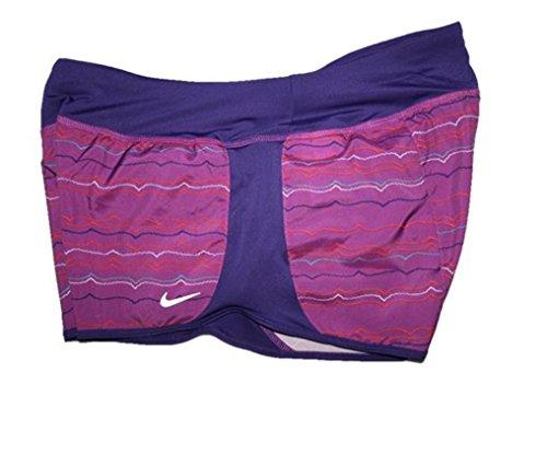 Nike Women's Peak Crew Printed Running Shorts (Large) Berry/Purple/Red/Blue