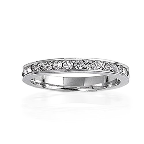 Bling Jewelry April Birthstone Sterling Silver Diamond CZ Eternity Band Ring
