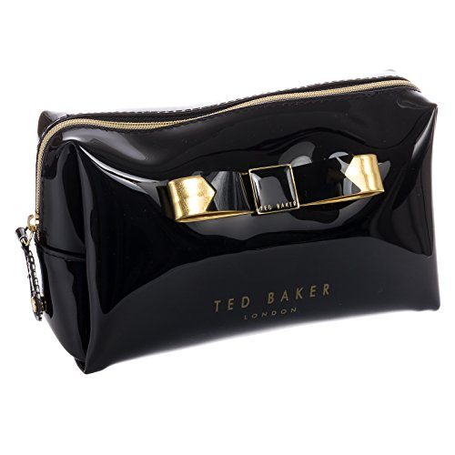 Ted Baker Small Bow Wash Cosmetic Case,Black,One