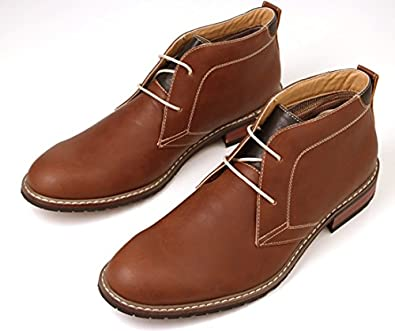 Ferro aldo modern men s dress chukka ankle boots shoes lace up brown
