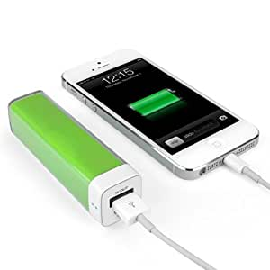BoxWave Rejuva Power Pack - Compact, Portable, 2,600 mAh Rechargeable Li-ion Smartphone Battery Charger Powerbank, External Battery Pack; Compatible w/ most Smartphones - Apple iPhone 5s / 5, Samsung Galaxy S4, S3, Note 3, Note 2, Google Nexus 5, LG Nexus 4 (Green)