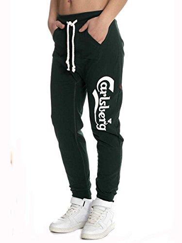 Pantalone in Felpina Invernale Carlsberg Cbd1414 Made in italy Verde Inglese, S MainApps