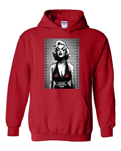 Acacia Marilyn Monroe CA Pol Department Unisex Hoodie Sweatshirt Medium Red (Ca Hoodie compare prices)