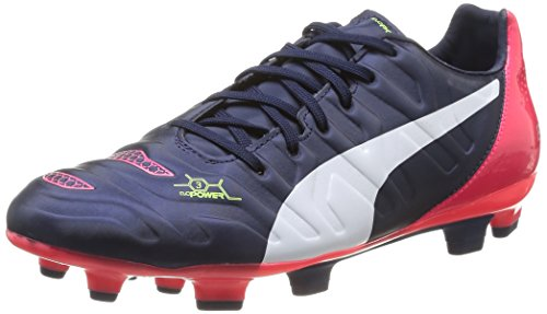 Puma evoPOWER 3.2 FG, Calcio scarpe da allenamento uomo, Blu (Blau (peacoat-white-bright plasma 01)), 41