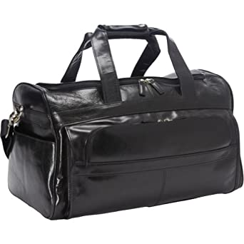 Dr. Koffer Country Lux Leather Coleridge Travel Bag (Black)