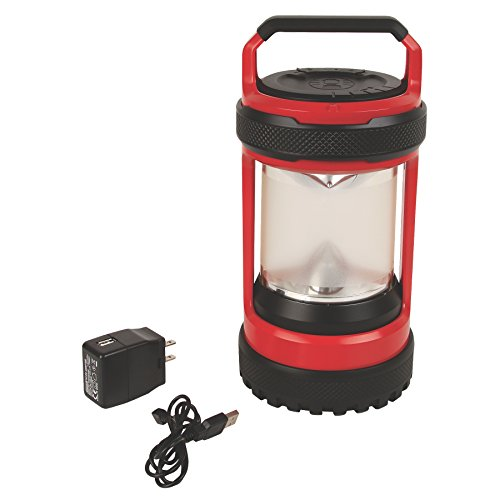 Coleman Company Conquer Spin 550 lm Rechargeable LED Lantern, Red/Black (Coleman Led Lantern Rechargeable compare prices)