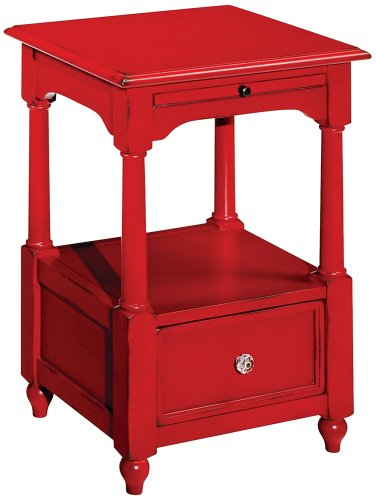 Image of American Mix Antique Red One Drawer End Table (T2007222-99)