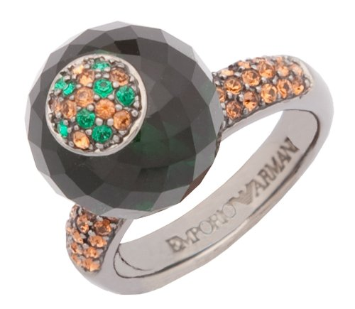 Emporio Armani Damen Ring Grau/Grün/Braun EG1704040, Ringgröße:53 (16.9)