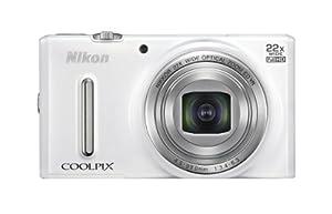 """Nikon Coolpix S9600 Appareil photo numérique compact 16 Mpix Écran LCD 3"""" Zoom optique 22X Blanc"""