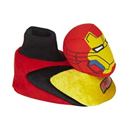 Marvel Comics Toddler Boys Iron Man Slippers Sock Top Avengers House Shoes