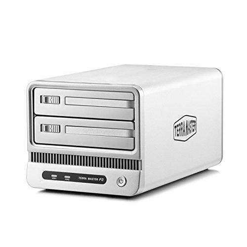 TerraMaster F2-C20 - SOHO 2 Bay NAS-Server Personal Cloud Storage Festplattengehäuse mit bis zu 8TB Kapazität (RAID, Marvell 6282, 1,6GHz, 2x 8,9 cm (3,5 Zoll), USB 2.0)