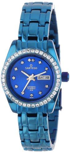 Sartego Women's SLMB75 Classic Analog Metallic Blue Face Dial Blue Swarovski Watch