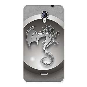 Ajay Enterprises Wo Printed Dragon Back Case Cover for Micromax Unite 2 A106