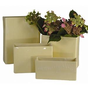 Rectangle Vase Glaze Color / Size: Green / Medium