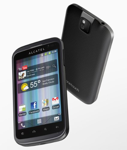 Alcatel One Touch 991 Smartphone (10,2 cm (4 Zoll) Touchscreen, 3,2 Megapixel Kamera, micro-USB, Android 2.3) schwarz