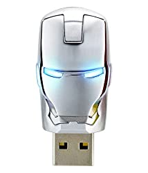 The AVENGERS Ironman War Machine Mask USB Flash Drive 8GB (8GB Sliver)