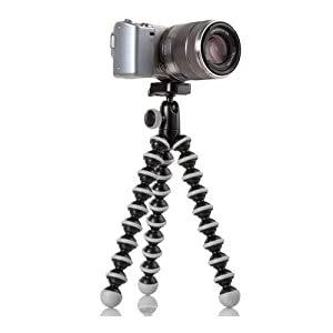 JOBY GorillaPod Hybrid Tripod for Mirrorless and 360 Cameras - A Flexible, Portable and Lightweight Tripod With a Ball Head and Bubble Level
