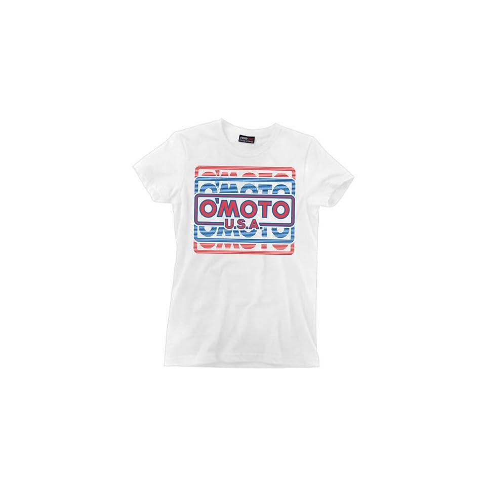 ONeal Racing 1985 Womens Short Sleeve Fashion Shirt   White / Medium