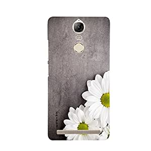 iSweven LnK5n_1013 Printed high Quality White_Sunflower Design Back case cover for Lenovo Vibe K5 Note