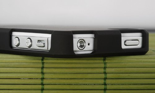 New For Apple Iphone 4 4S Slider Black Hard Case Shield