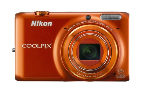 Nikon COOLPIX S6500 Wi-Fi Digital Camera with 12x Zoom (Orange)