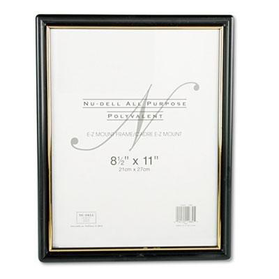 EZ Mount Document Frame with Trim Accent, Plastic, 8-1/2 x 1