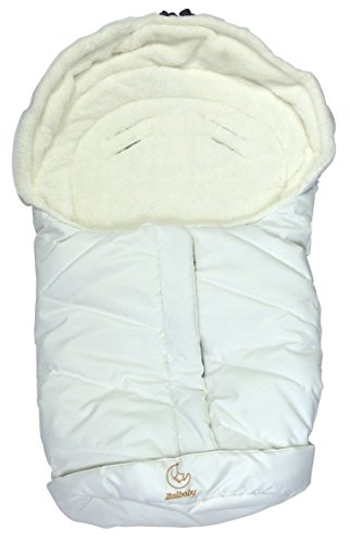 Baby Minder 050.5100-005 Sacco a Pelo Invernale per Ovetto/Carozzina, Bianco
