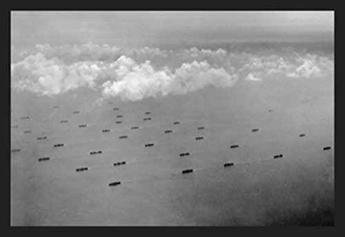 Convoy at Sea, by US Navy, 12x18 Poster, Heavy Stock Semi-Gloss Paper Print