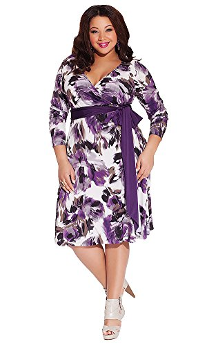 Igigi Women'S Plus Size Neve Wrap Dress In Lavender 26/28