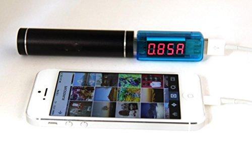 Lbrno Blue Color Digital Portable Lcd Usb 2.0 Current And Voltage Meter Tester For Smartphone Tablet Gadget Charging Status