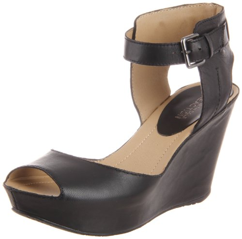 Kenneth Cole Reaction Women'S Sole My Heart Wedge Sandal,Black Leather,8 M Us front-1065988