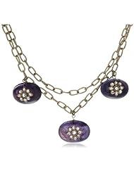 Karmic Kabira Fusion Collection Multi-Strand Necklace For Women (Purple) (KK-0711-06)