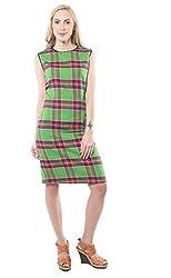 iamme Green check bodycon dress