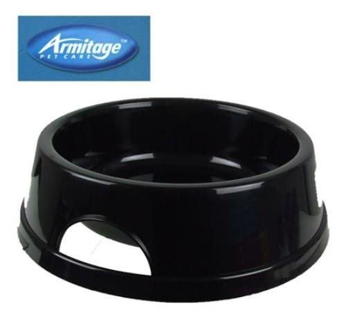 Good Boy Polished Plastic Pet Bowl 5inch Black ( High quality polished small pet diner. Designer inspired to blend with home interiors. Fully dishwasher safe, stylish and practical design. Size: 5 (12.5cm) With carry handles. Approximate bowl depth 4cm (lip-base) Made in England. ...) by Armitage