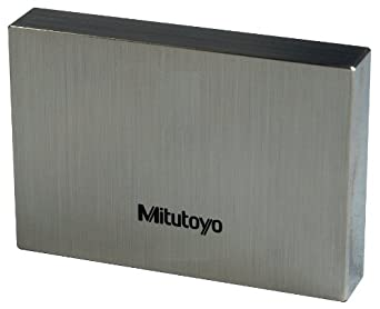 Mitutoyo Steel Rectangular Gage Block, ASME Grade AS-1, Metric