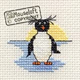 Mouseloft Mini Cross Stitch Kit Rockhopper Penguin Stitchlets Collection