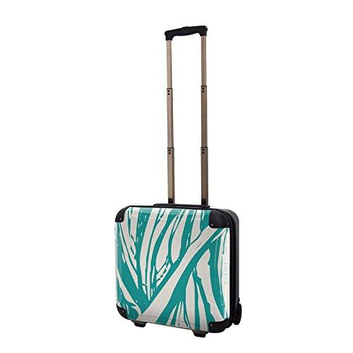 キャラート アートスーツケース ベーシック ソフィスティ(エメラルド) ジッパー2輪 機内持込 CRB01-035G