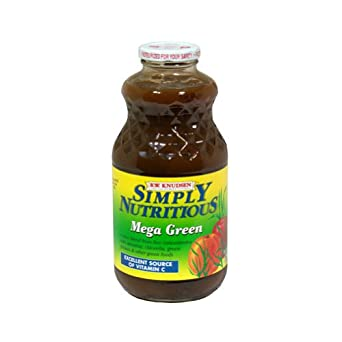 Knudsen Simply Nutritious Mega Green Juice, 32 Ounce -- 12 per case.