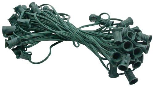 American Lighting Xc75012-Gr Seasonal Lighting Stringer For C7 Bulbs, Green, 50-Feet