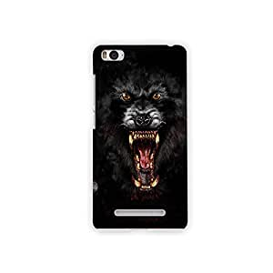 Mikzy Angry Wolf Printed Designer Back Cover Case for Xiaomi Mi4i