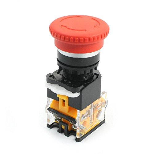 la115-b DPST Red Mushroom Head latching Switch Push Button 400 V 10 A