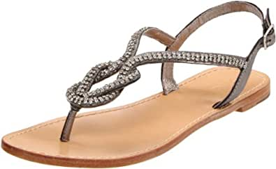 ZiGiny Women's Intrigue Thong Sandal,Pewter,7.5 M US