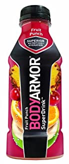 BODYARMOR Drink, Fruit Punch, 16 Ounce (Pack of 12)