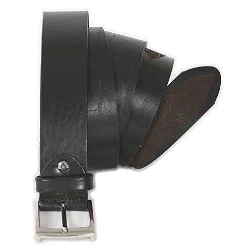 Cintura taglie forti uomo Maxfort 2-XF in cuoio laserata extra lunga - Marrone, 140 CM