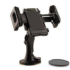 IMOOVE - Support Auto Voiture Universel Ventouse pour Fixation sur Pare Brise, sur Grille de Ventilation ou sur Tableau de Bord pour iPhone 4S & 5 / Samsung Galaxy S2 & S3 / HTC / Sony Xperia / Nokia / LG / GPS TomTom & Garmin..