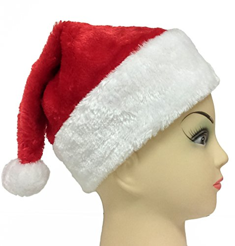 Star Power Red Plush Santa Hat - Child Size